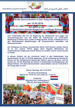Demo in holland    for website 13 march 2018 2  in deutsch final