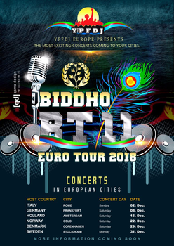 Biddho tour xi  2018 in europe
